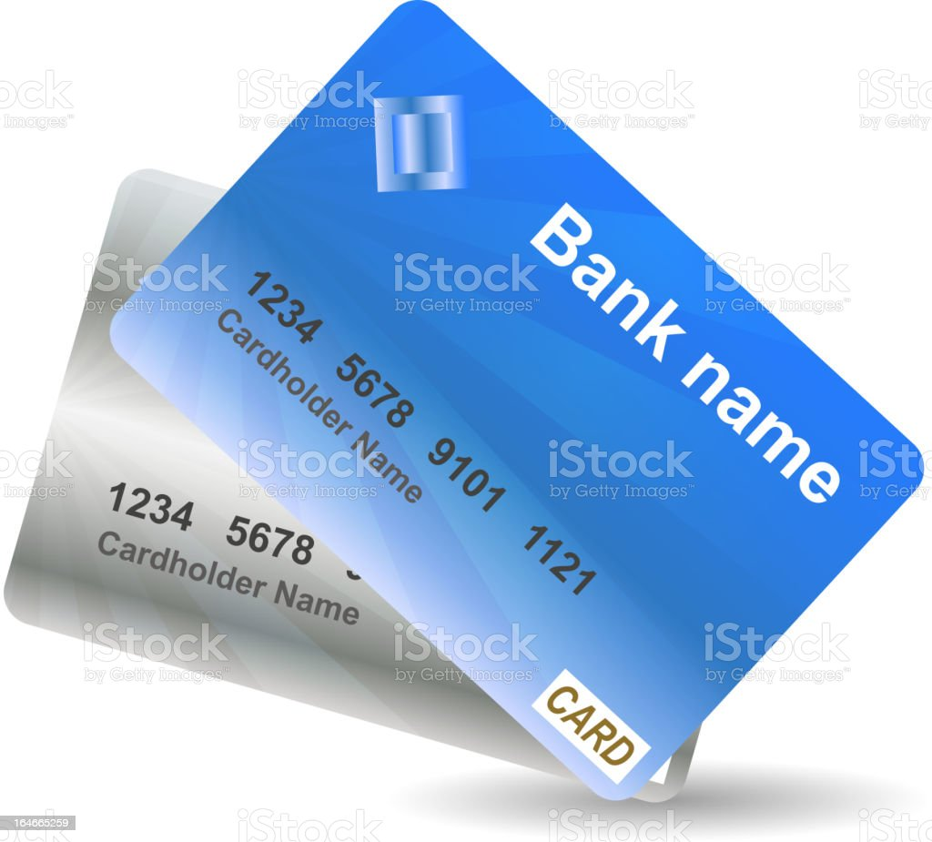 Credit card icon vector illustration royalty-free stock vector art