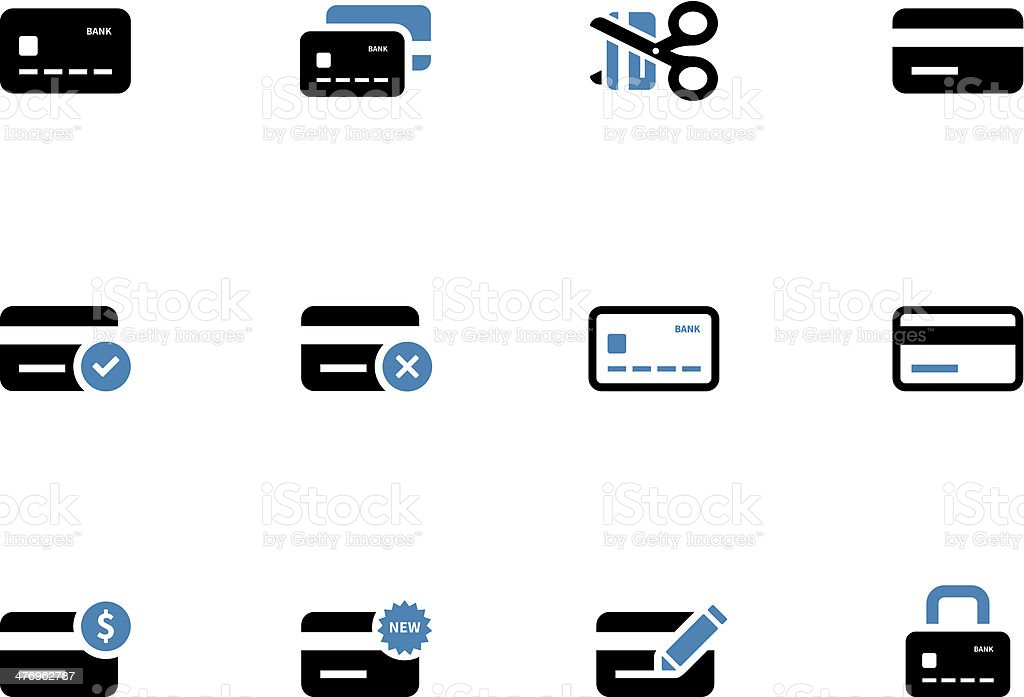 Credit card icons on white background. vector art illustration