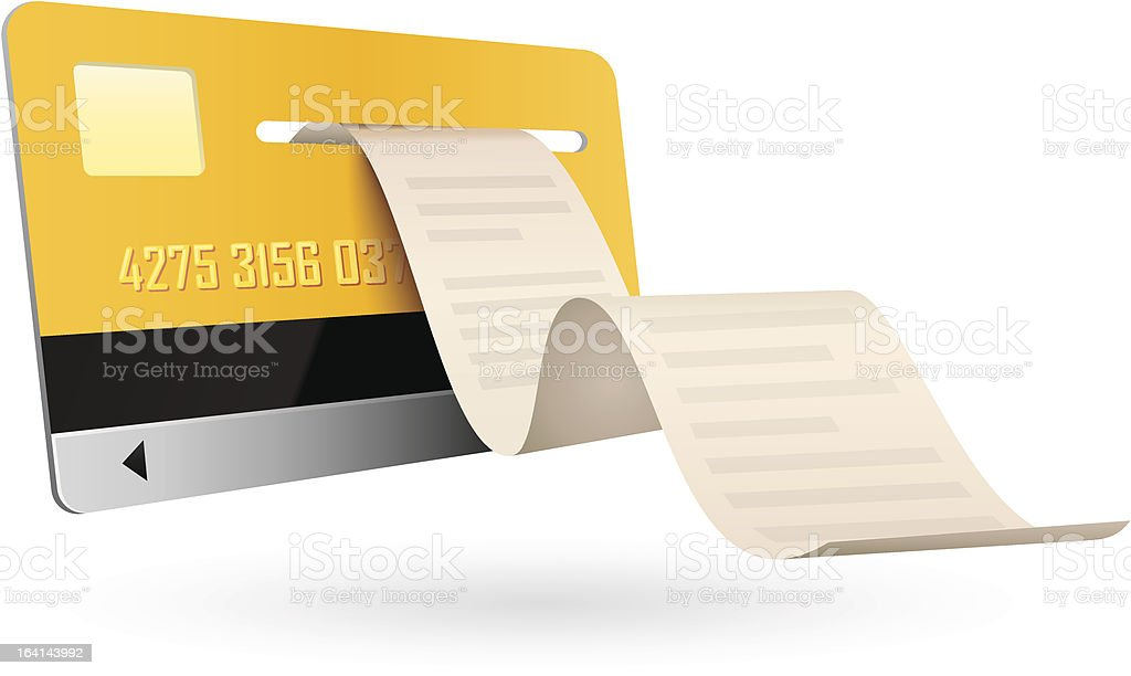 Credit Card isolated on white background royalty-free stock vector art