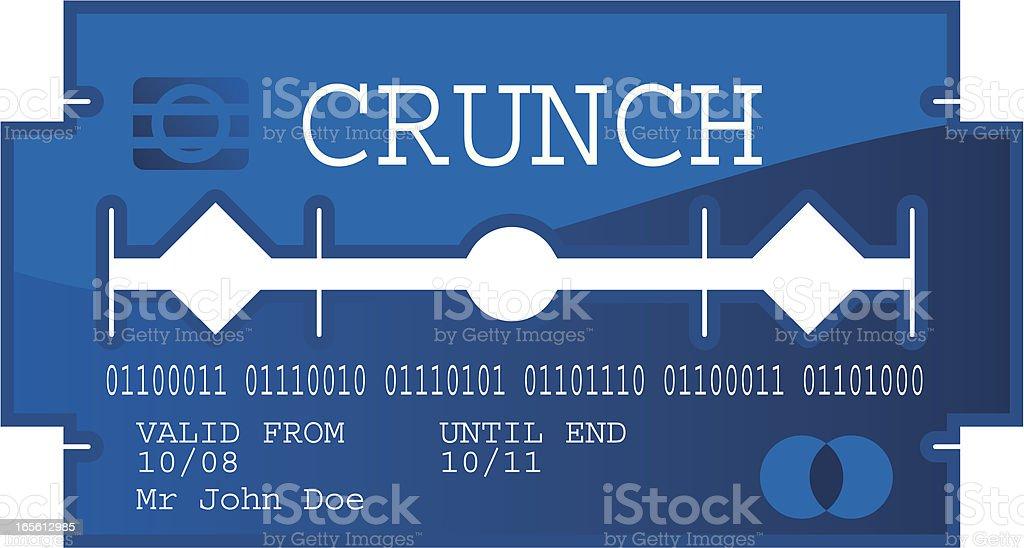 Credit card razor blade royalty-free stock vector art