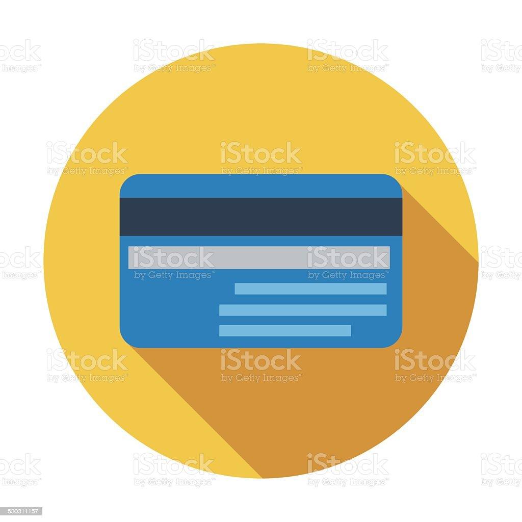 Credit card single flat icon. vector art illustration