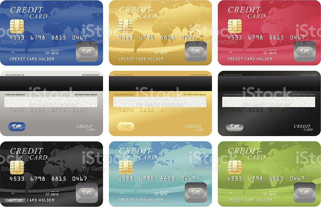 Credit card template vector art illustration