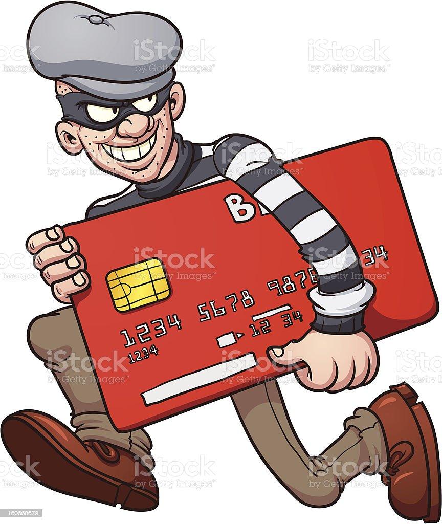 Credit card thief royalty-free stock vector art