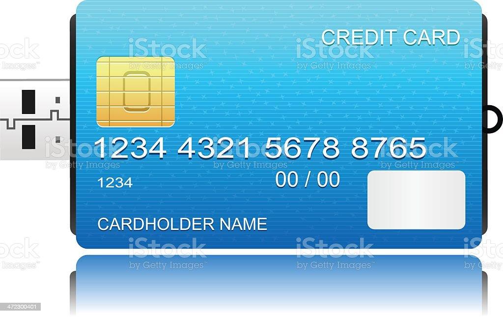 Credit Card Usb royalty-free stock vector art