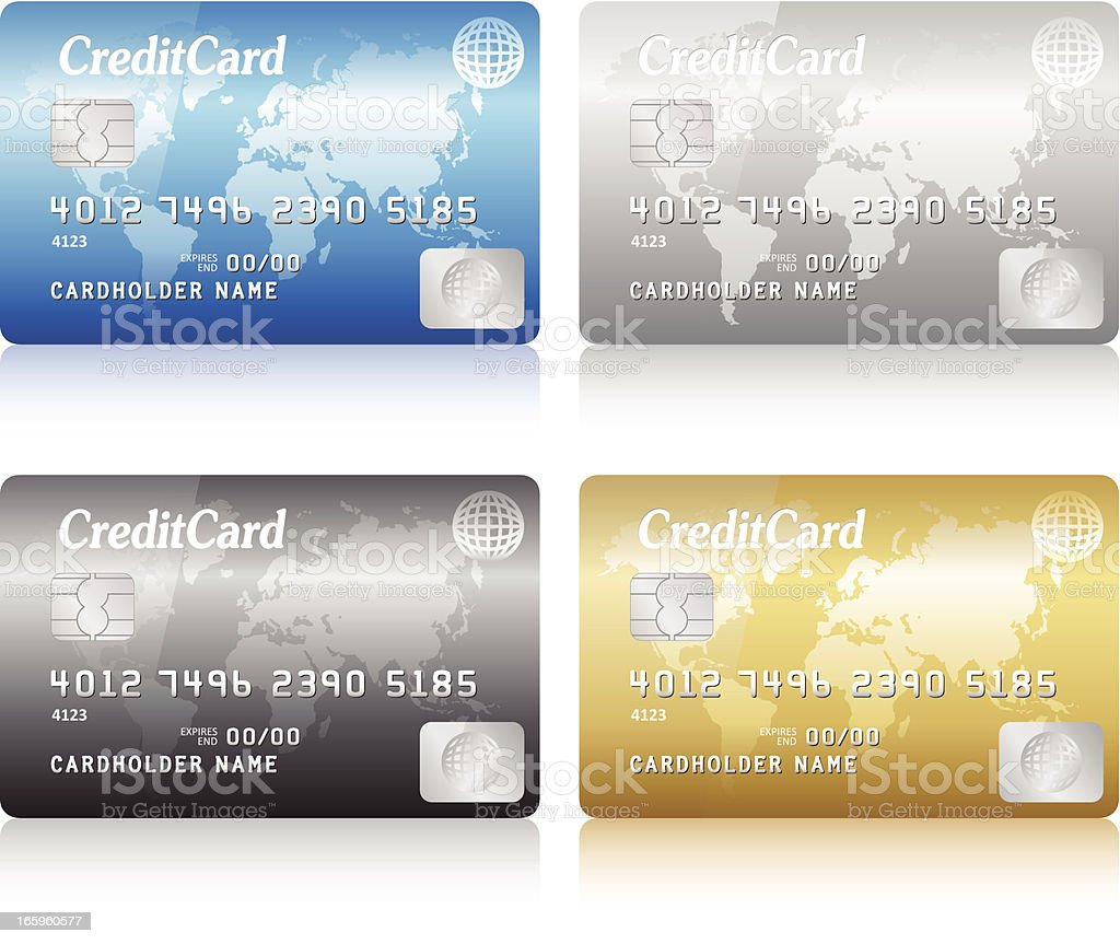credit card royalty-free stock vector art