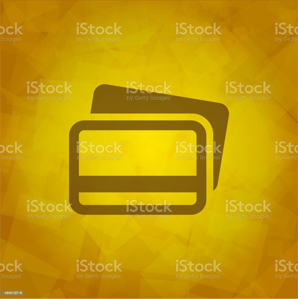 Credit Cards Icon design element. royalty-free stock vector art