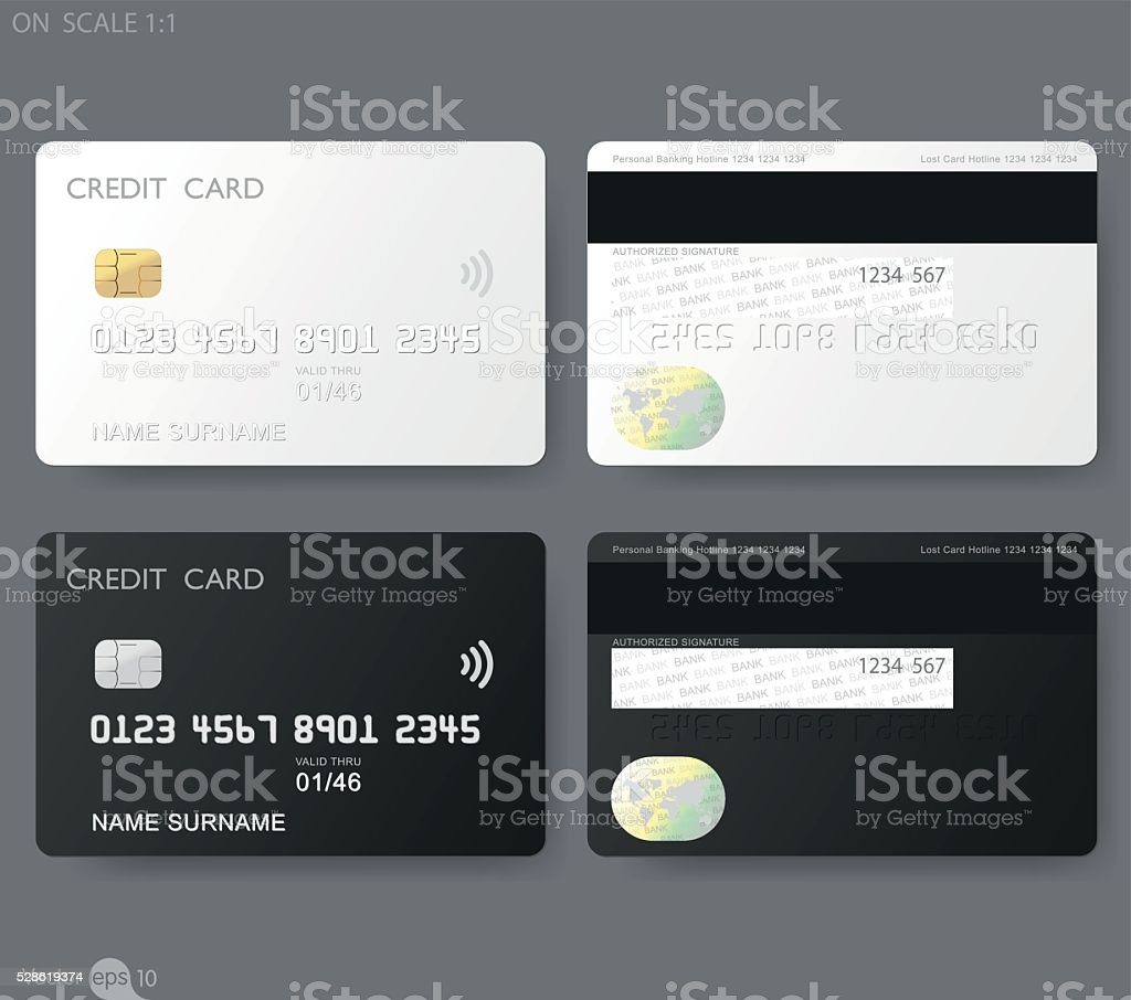 credit cards template royalty-free stock vector art