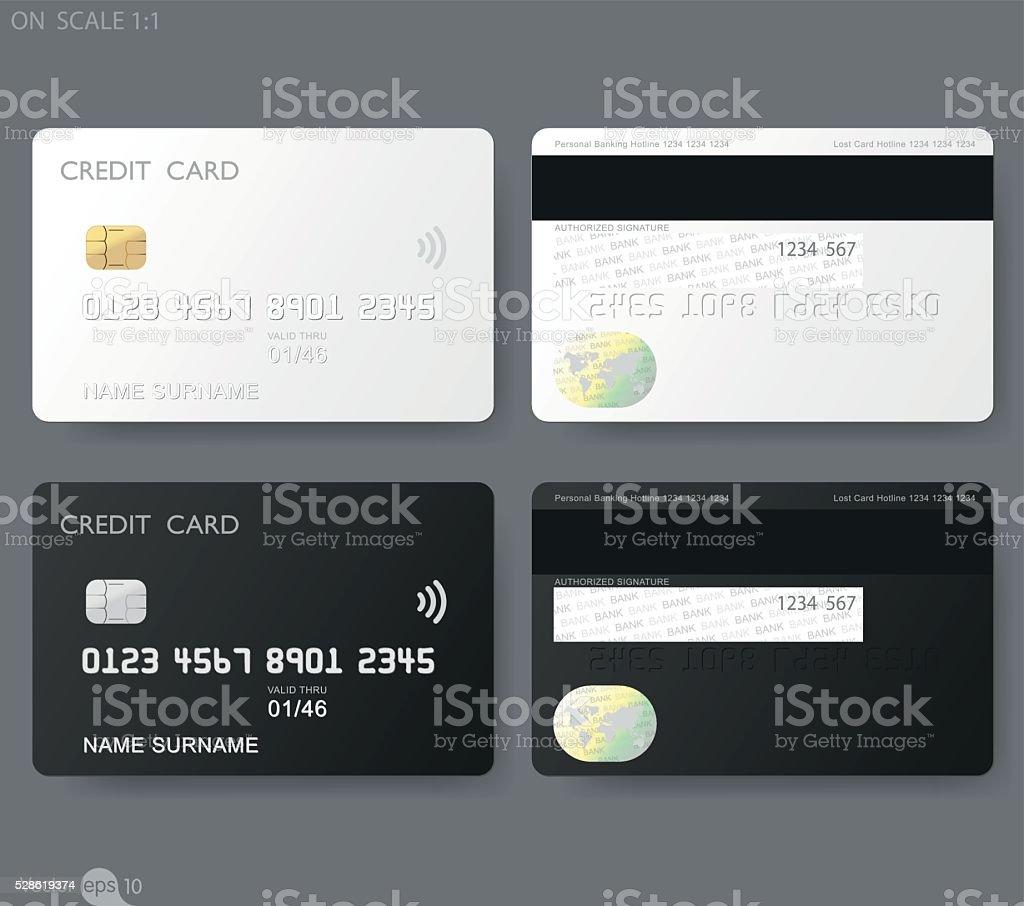 credit cards template vector art illustration