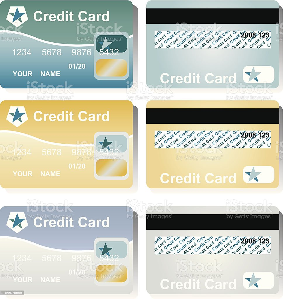Credit Cards royalty-free stock vector art