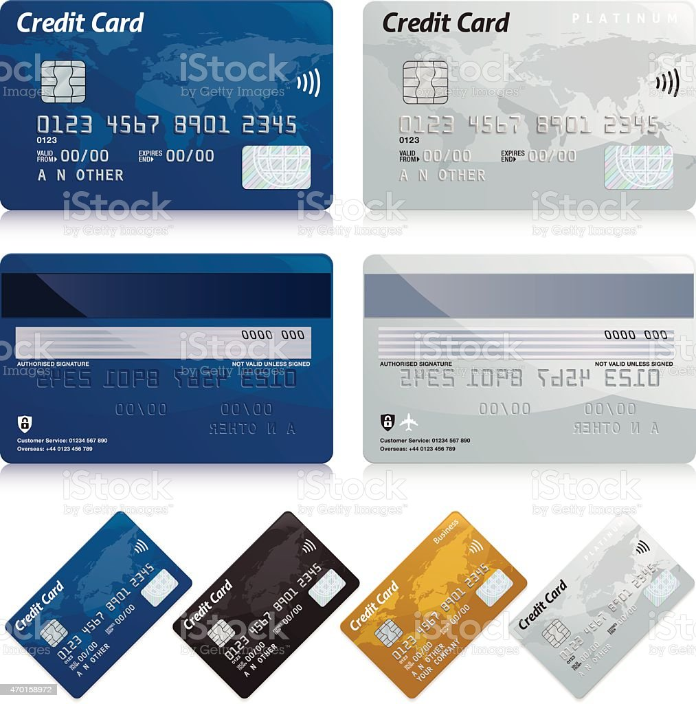 Credit cards vector art illustration