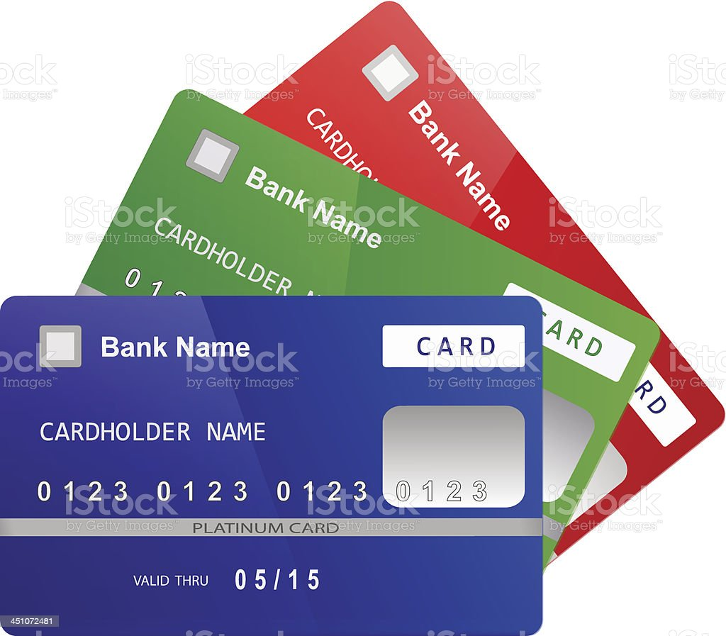 Credit cards Vector royalty-free stock vector art