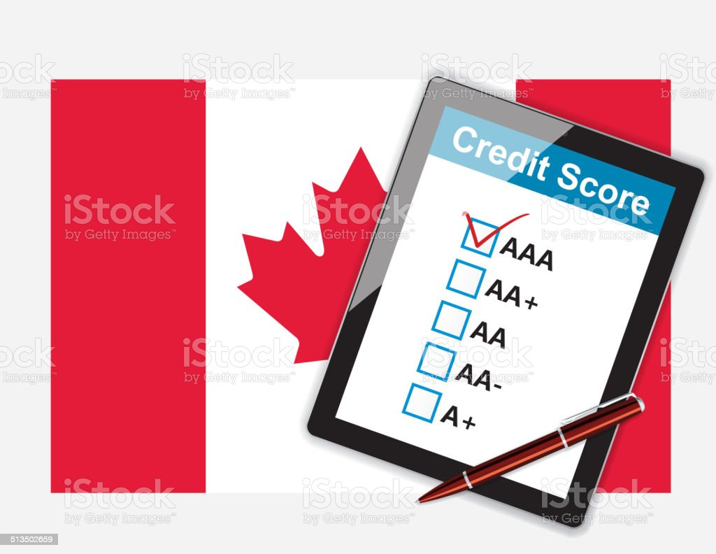 Credit score rank (Canada) vector art illustration