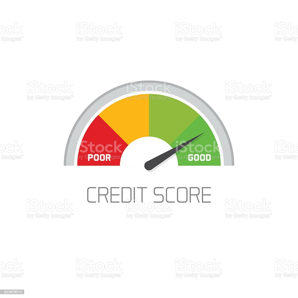 Credit score scale showing good value vector icon isolated vector art illustration