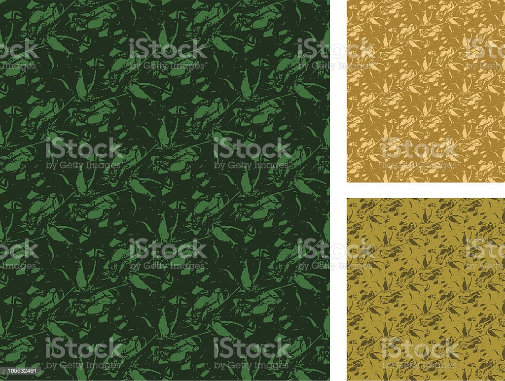 Creeping Vine Abstract Seamless Pattern royalty-free stock vector art