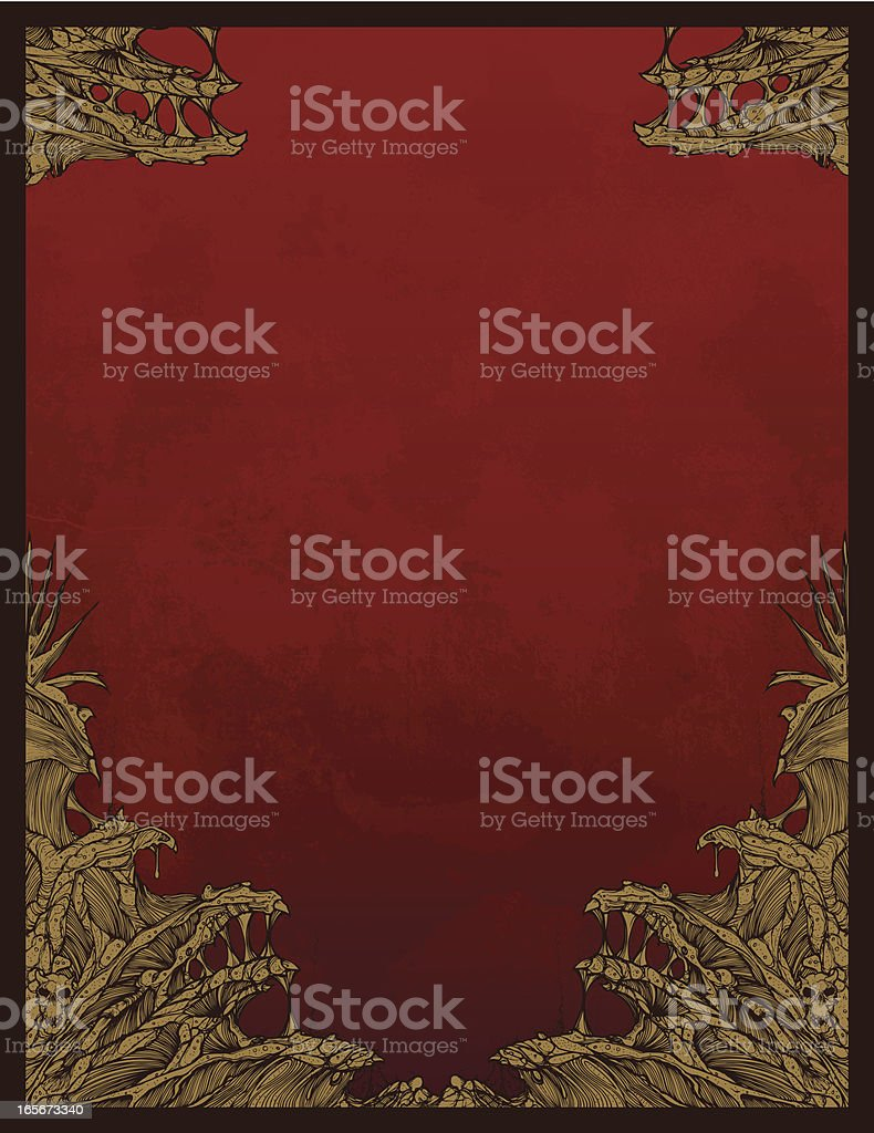 Creepy Background royalty-free stock vector art