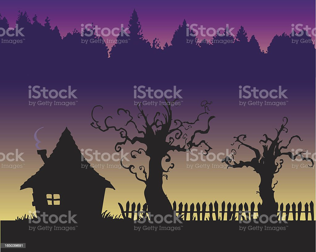 creepy house royalty-free stock vector art