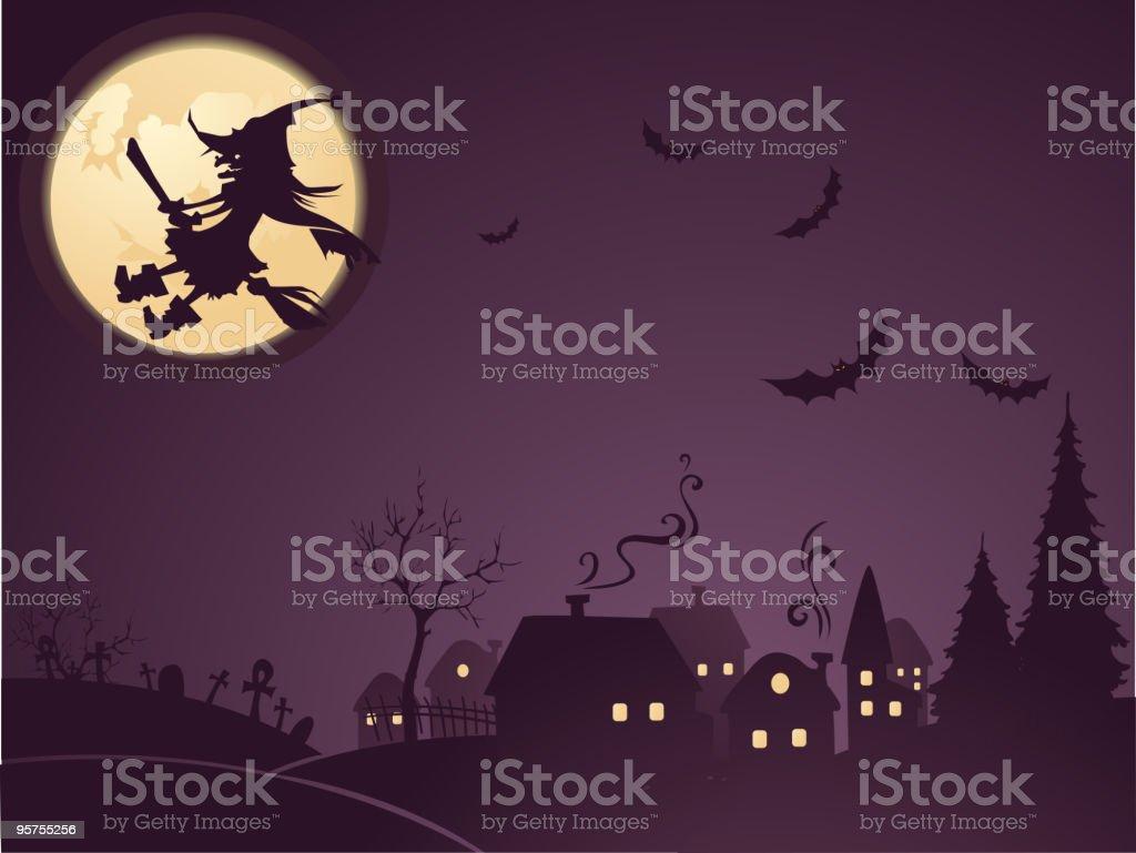 Creepy night royalty-free stock vector art