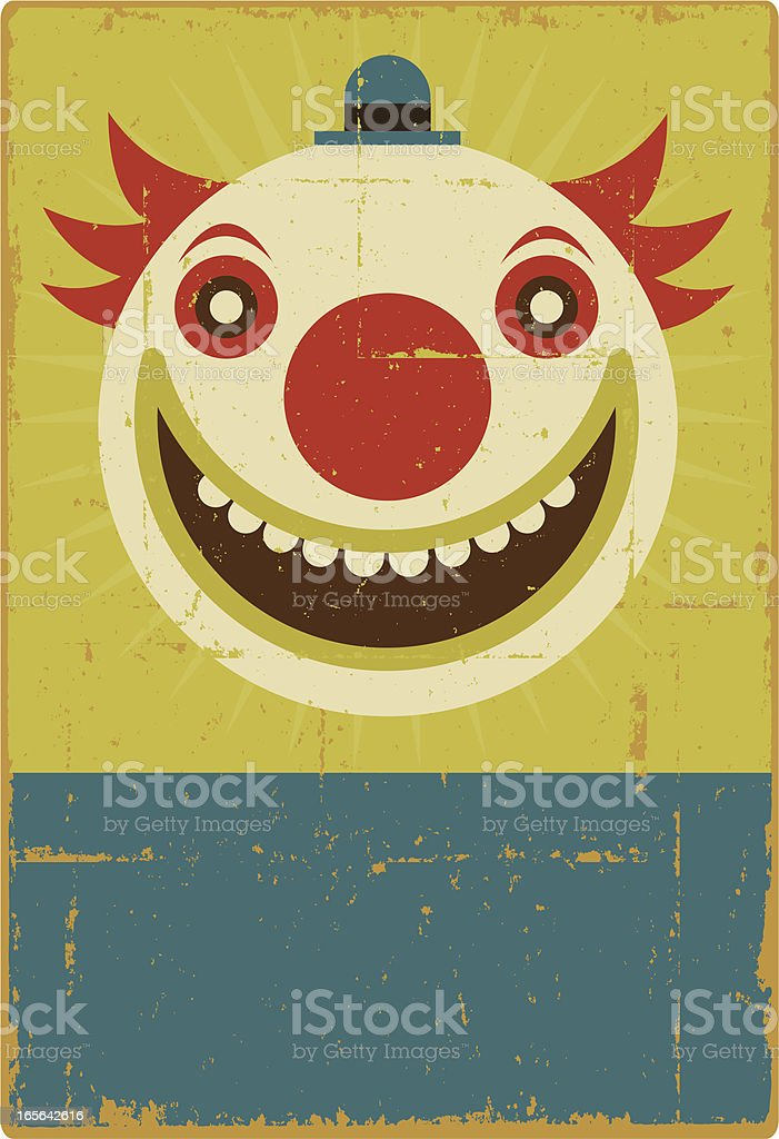 Creepy the Clown vector art illustration