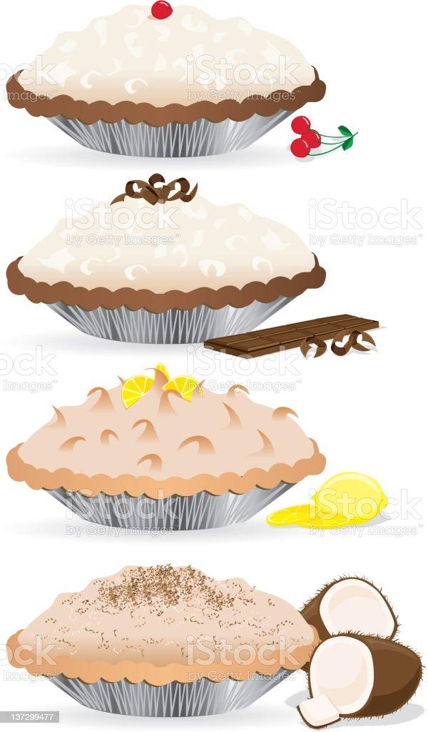 Creme Pies royalty-free stock vector art