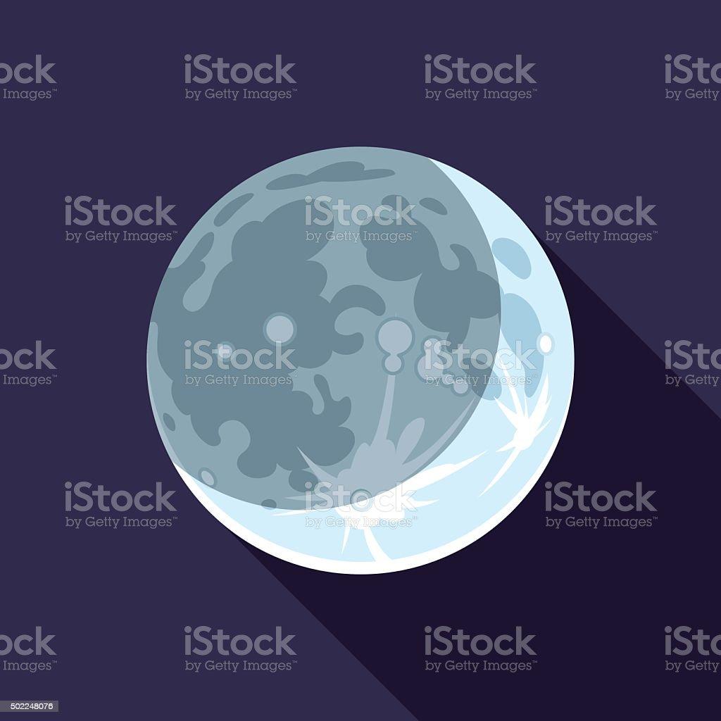 Crescent Moon vector art illustration