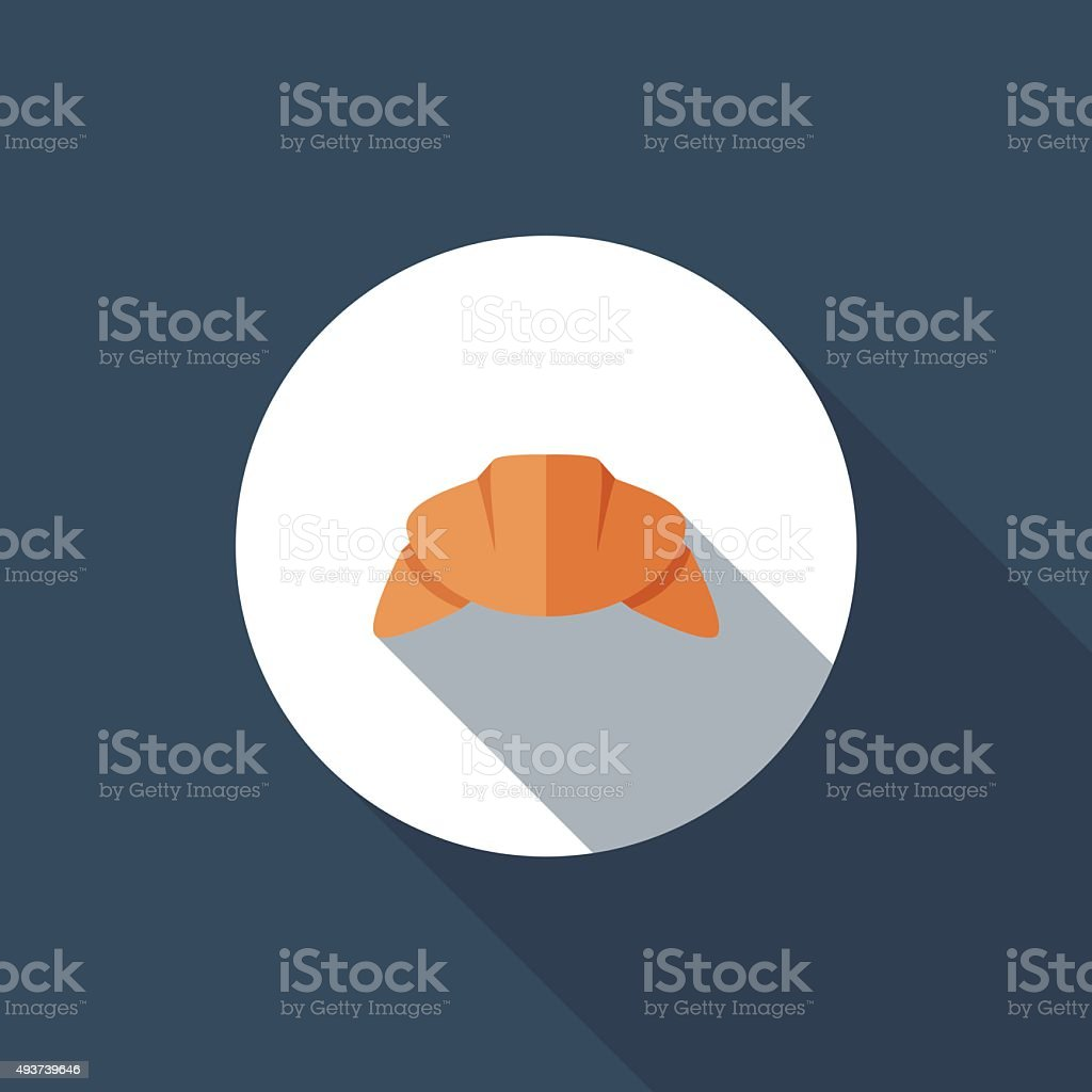 Croissant vector art illustration