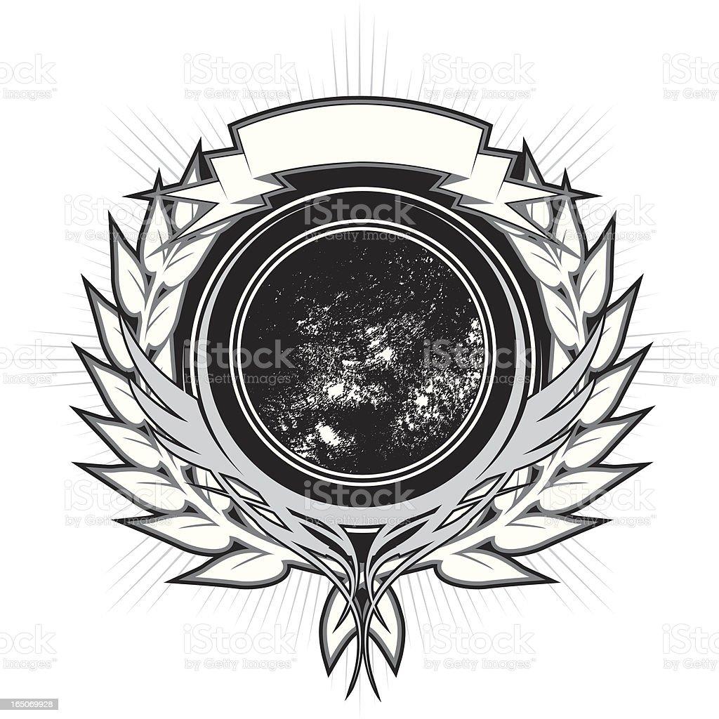 cresent wreath royalty-free stock vector art