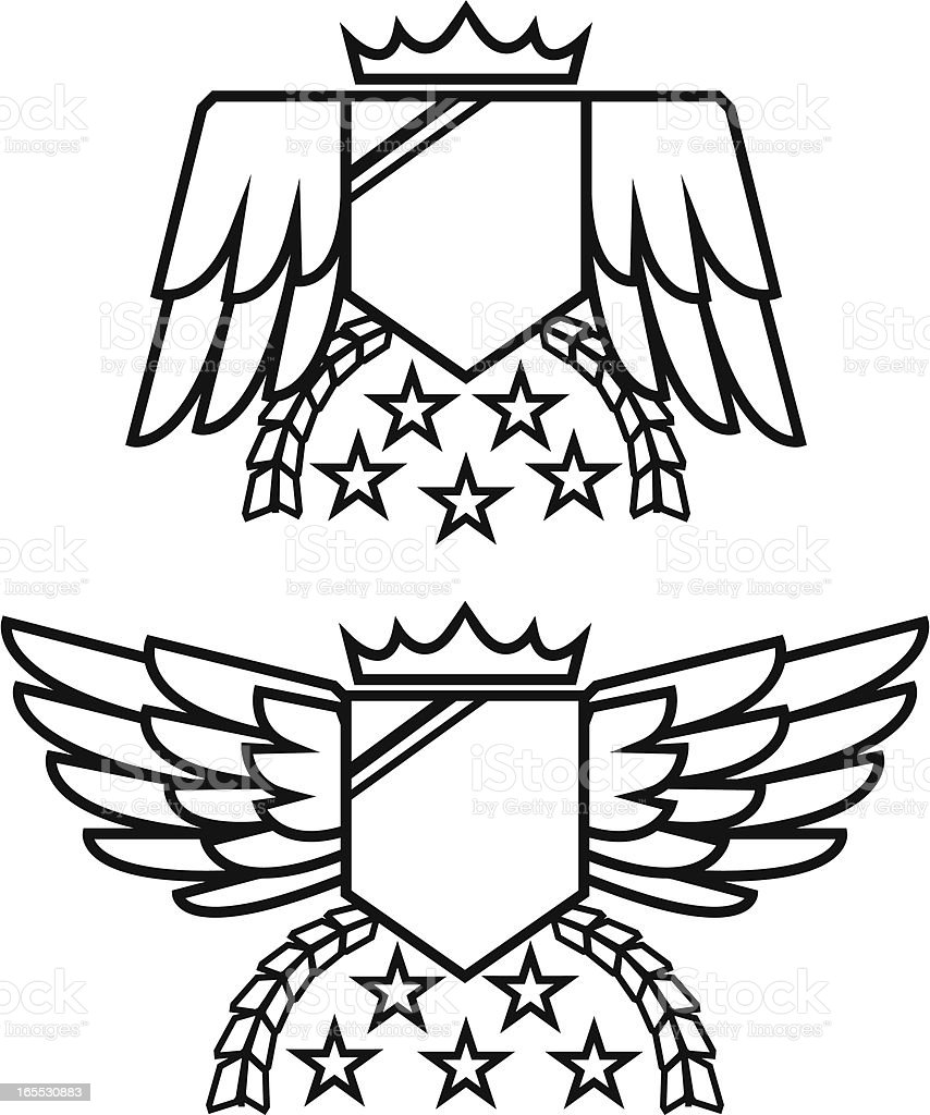 Crest and Emblem royalty-free stock vector art