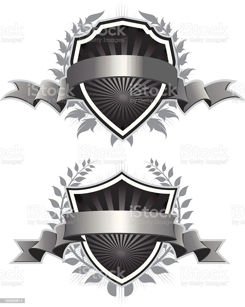 crest set royalty-free stock vector art