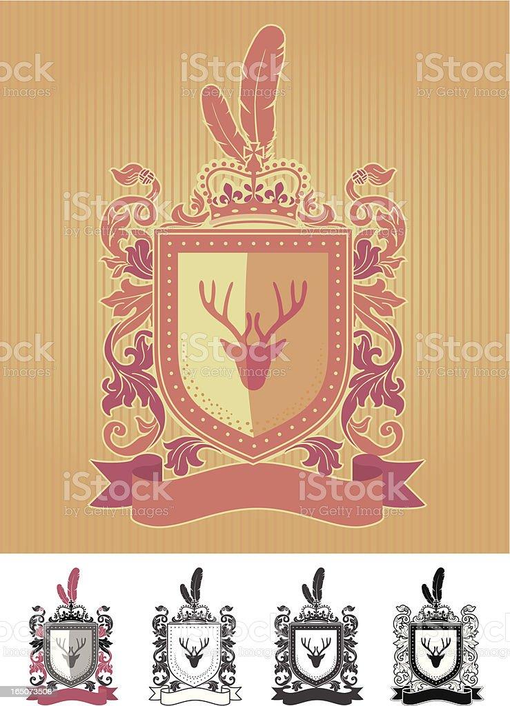 Crest royalty-free stock vector art