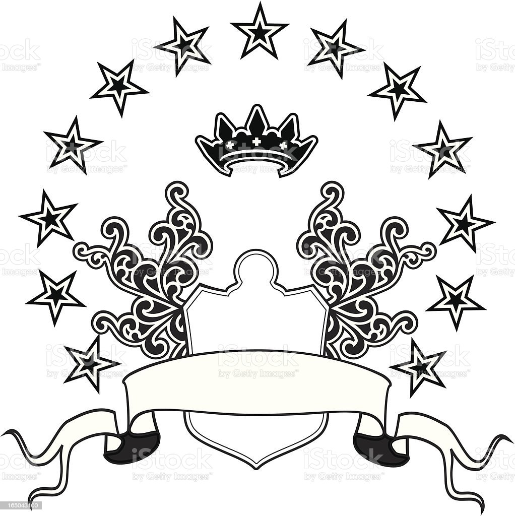 Crest with stars royalty-free stock vector art