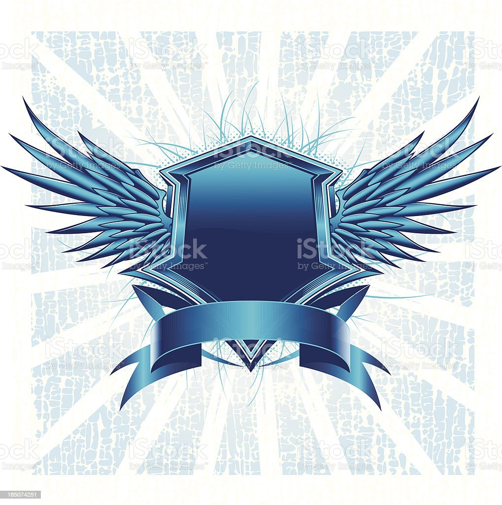 crested wings royalty-free stock vector art