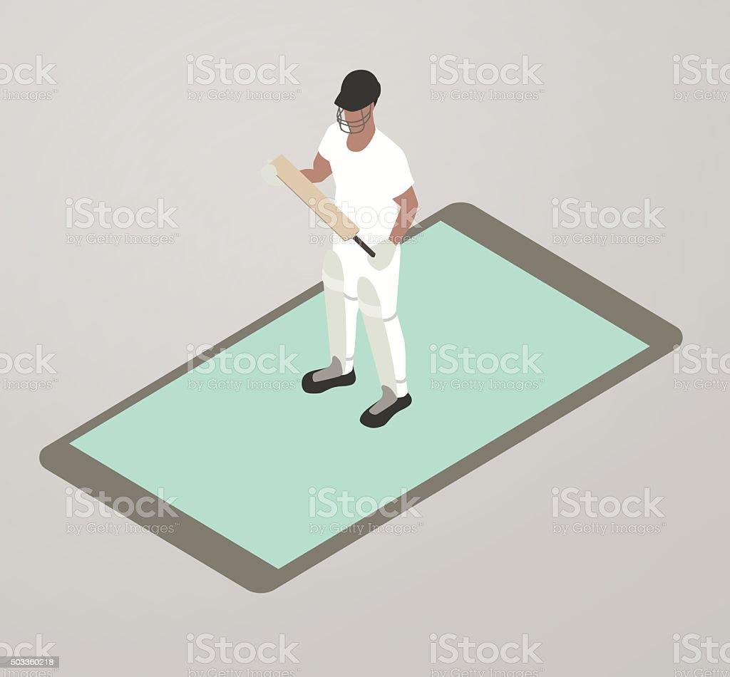 Cricket App Illustration vector art illustration