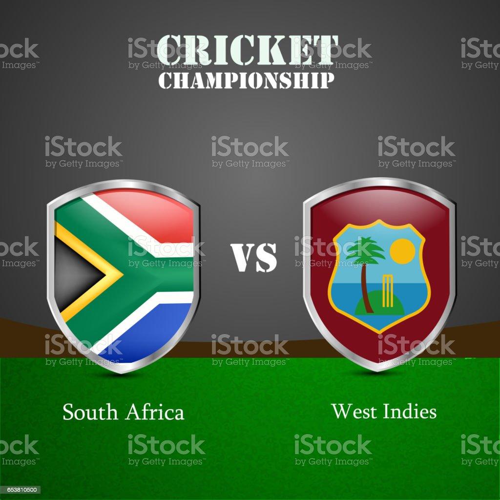Cricket background vector art illustration