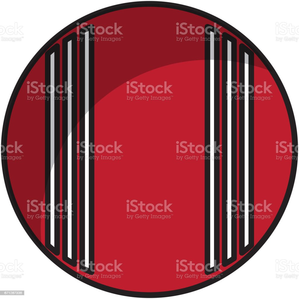 cricket ball isolated icon vector art illustration