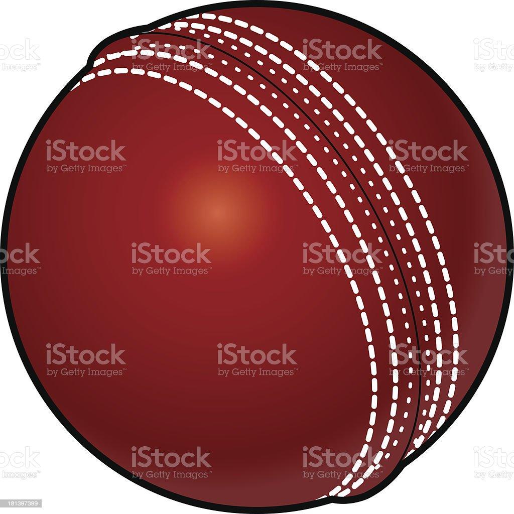 Cricket ball vector art illustration