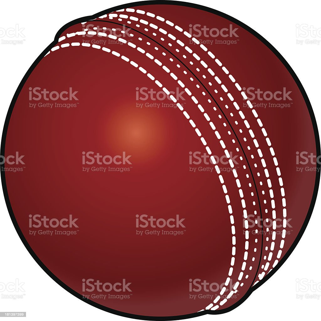 Cricket ball vector art illustration