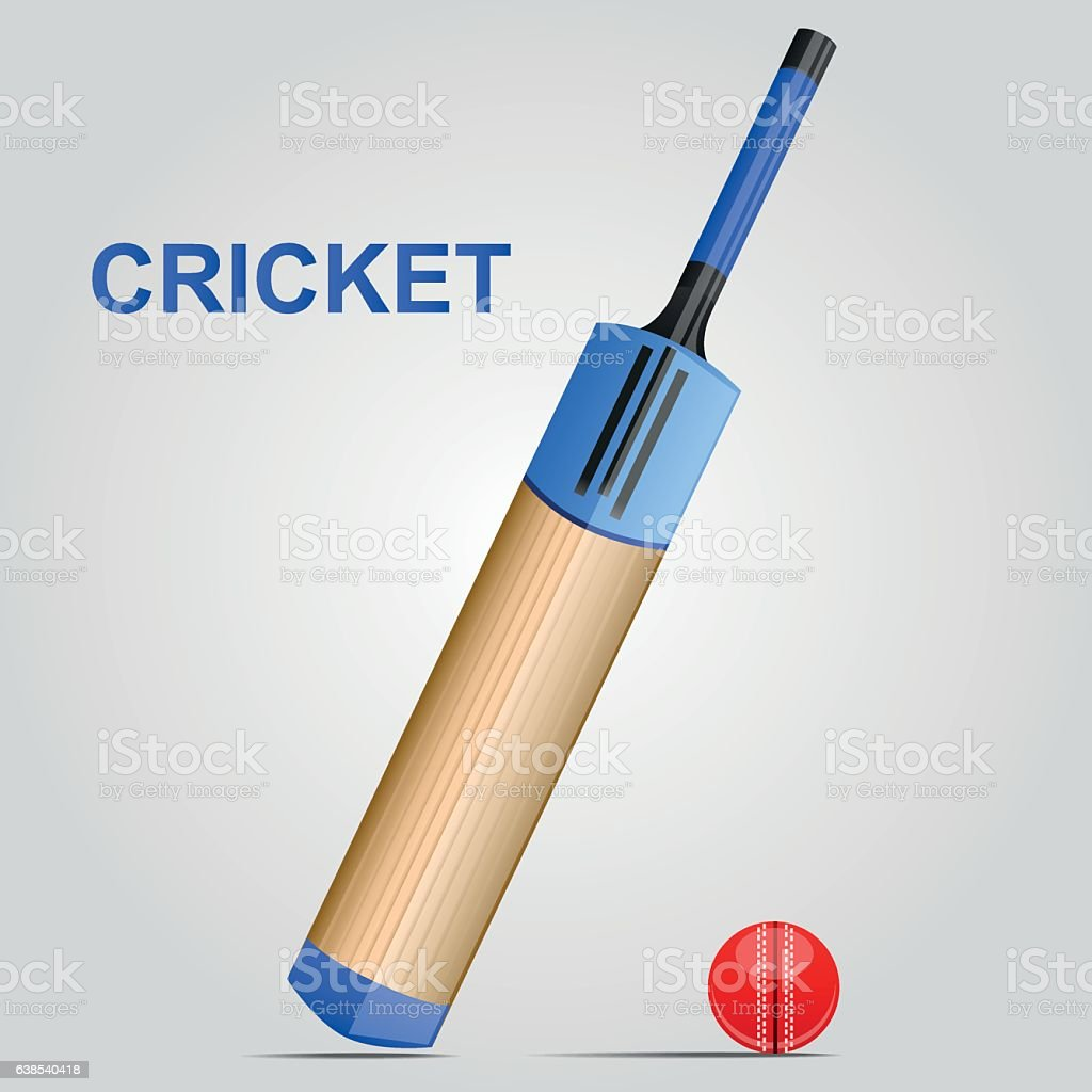 Cricket Bat and Ball used to play different formats of the game...