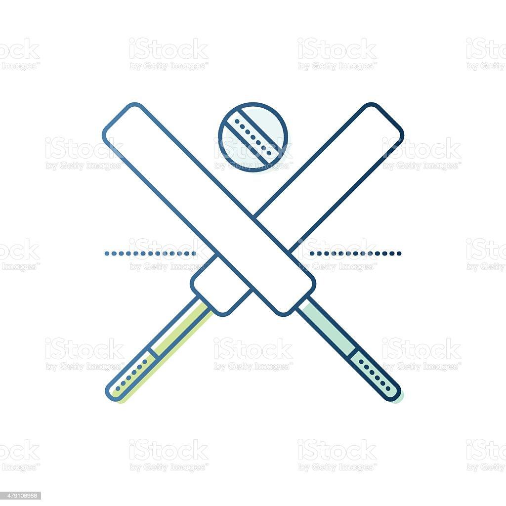 Cricket Bats and Ball vector art illustration