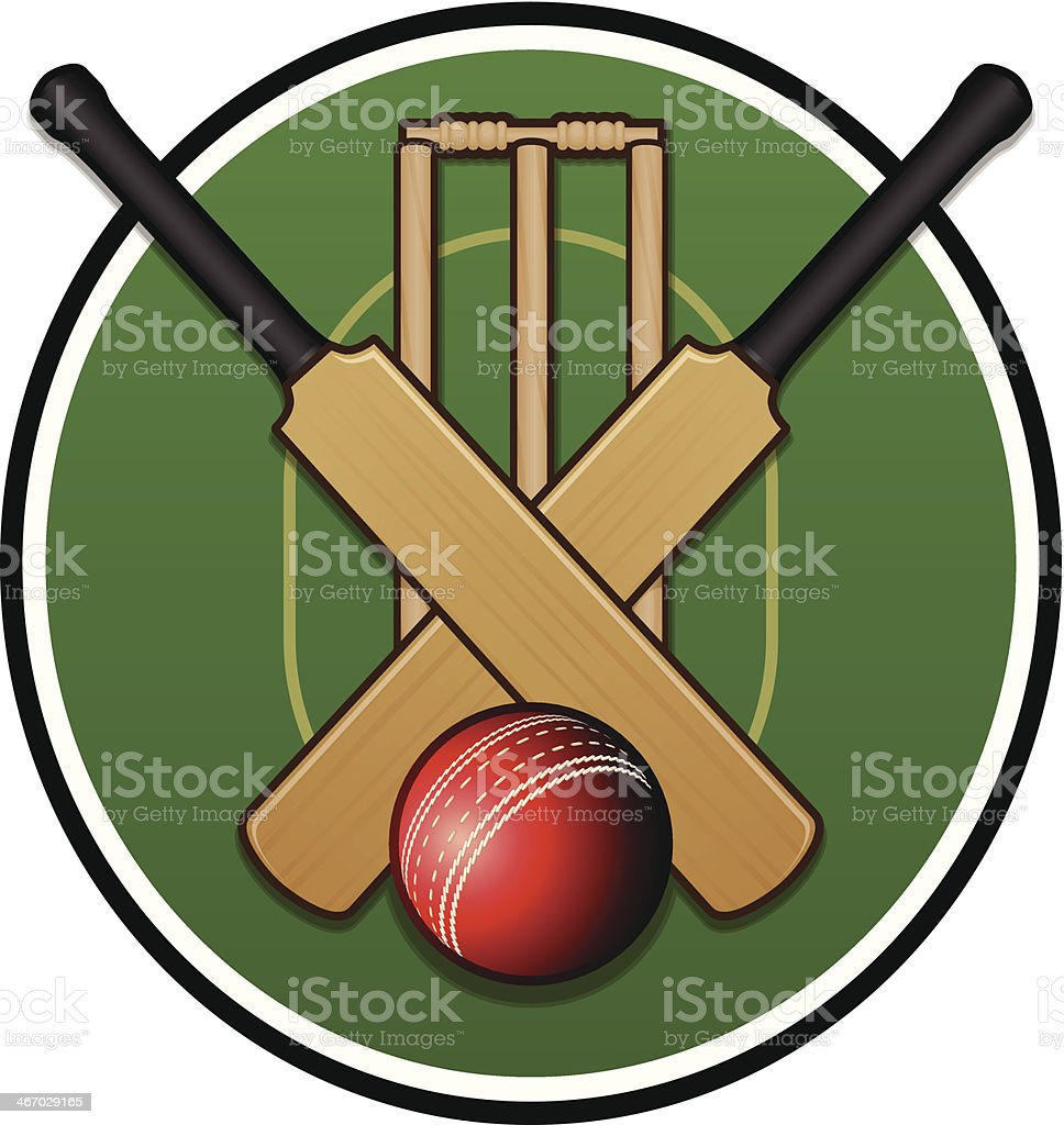 Cricket Logo vector art illustration