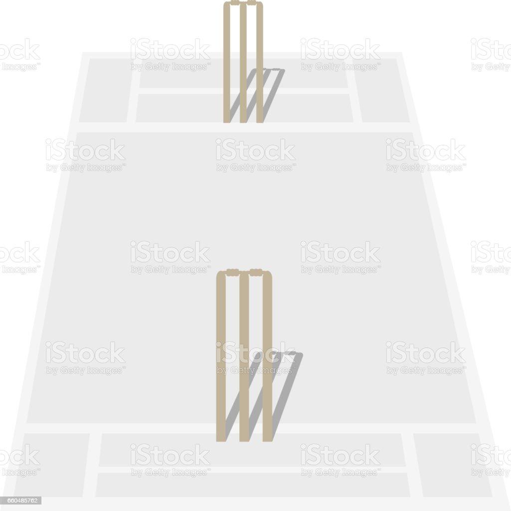 Cricket Pitch icon vector art illustration