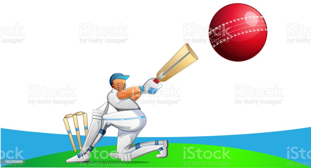 Cricket Player royalty-free stock vector art