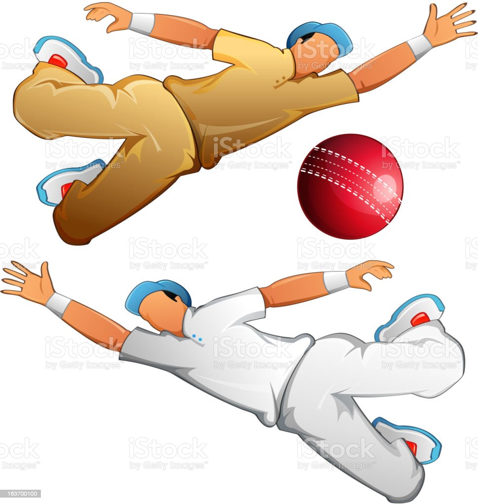 Cricket Player vector art illustration