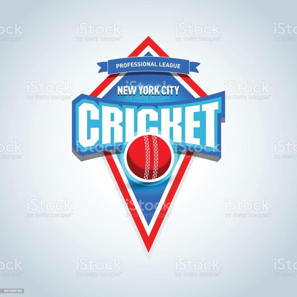 Cricket sports label, emblem. Cricket isolated badge emblem template,sport t-shirt graphics vector art illustration
