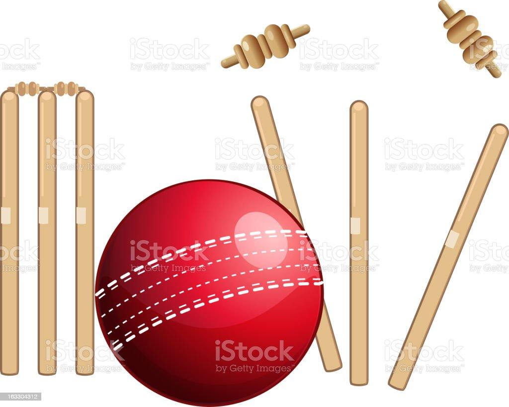 Cricket Sports vector art illustration