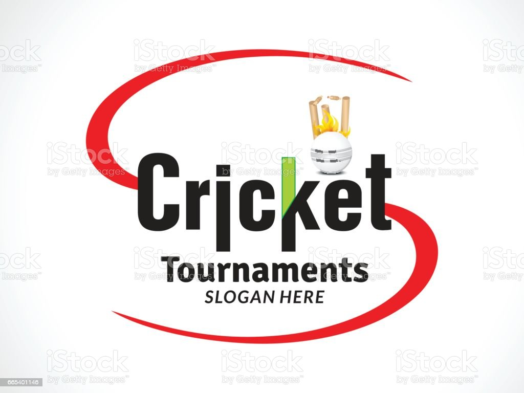 cricket tournament  banner or text style vector art illustration