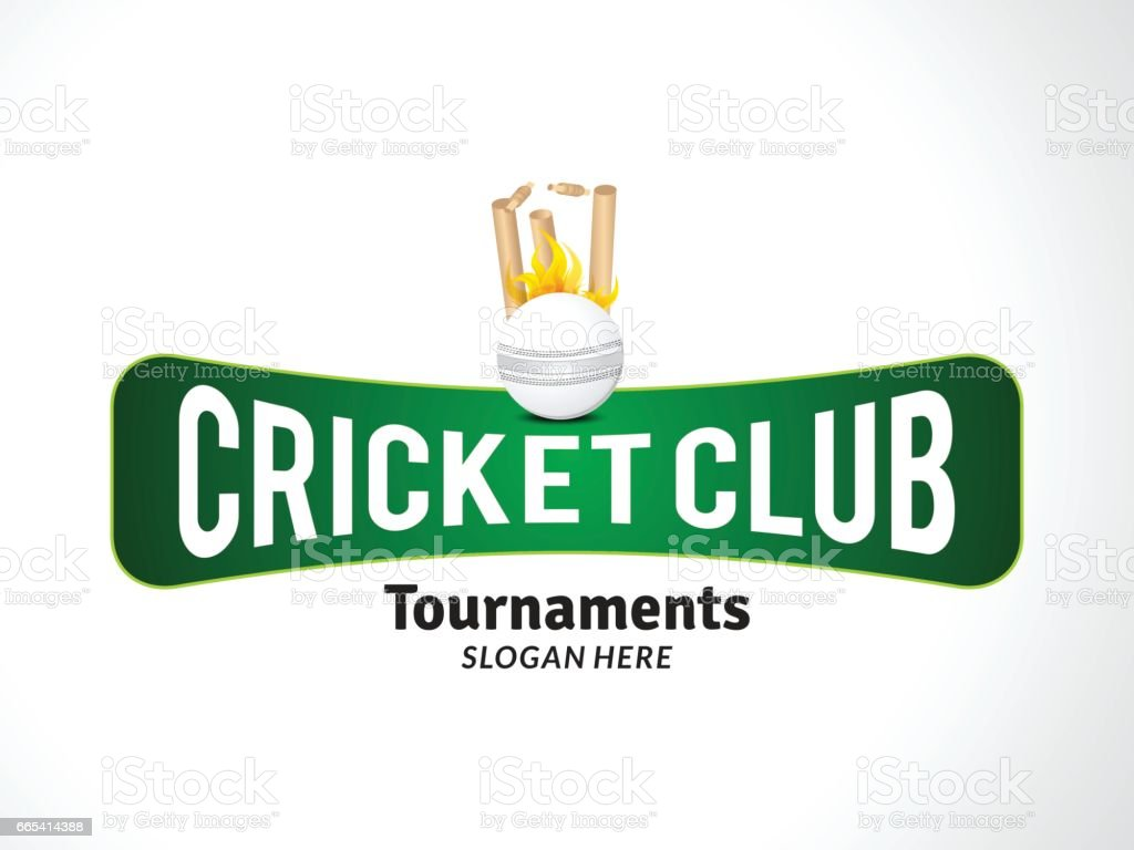 cricket tournament banner with cricket ball vector art illustration