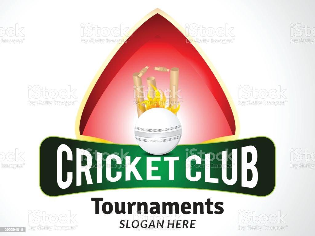 cricket tournament style banner vector art illustration