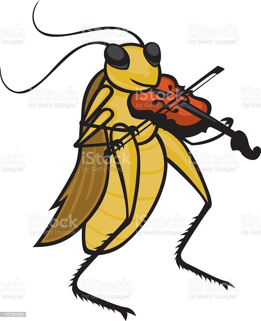 cricket vector art illustration