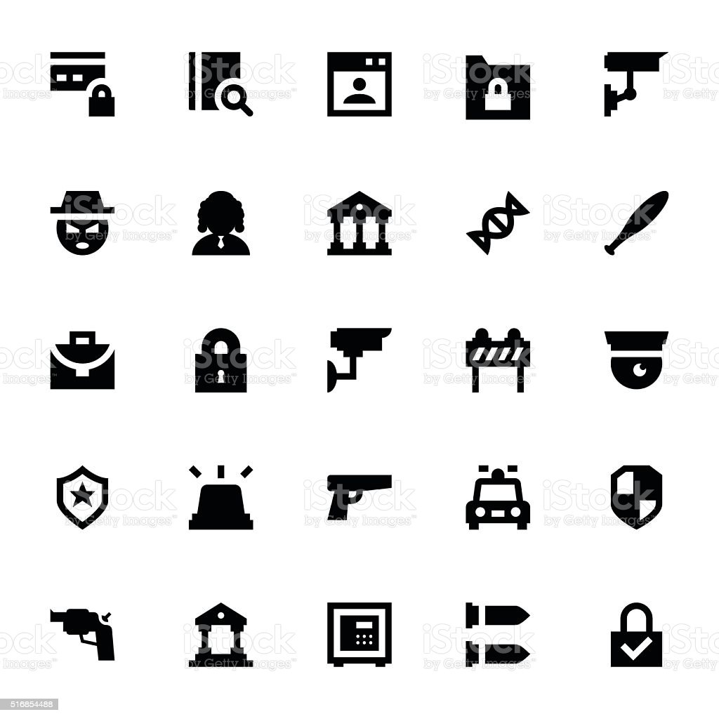 Crime and Security Vector Icons 2 vector art illustration