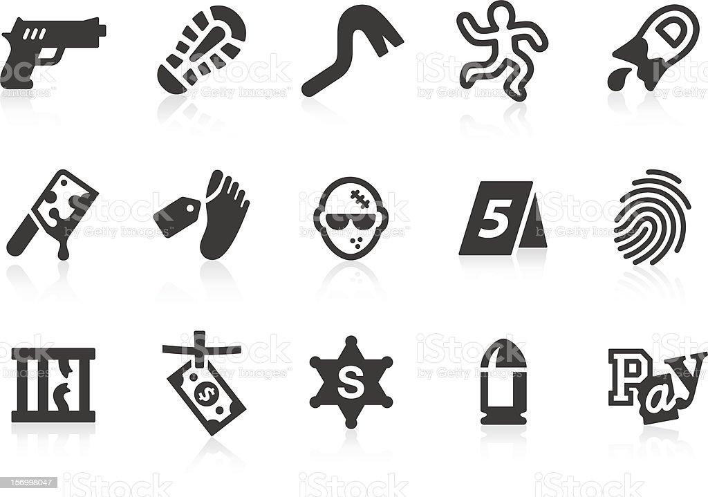 Crime icons stock photo